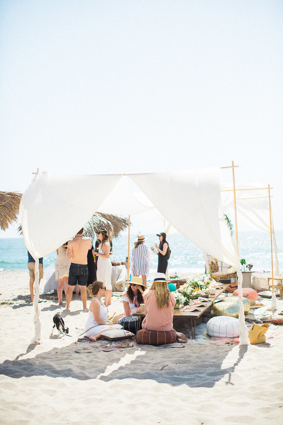 40th birthday beach party Boho beach party 100 Layer Cake