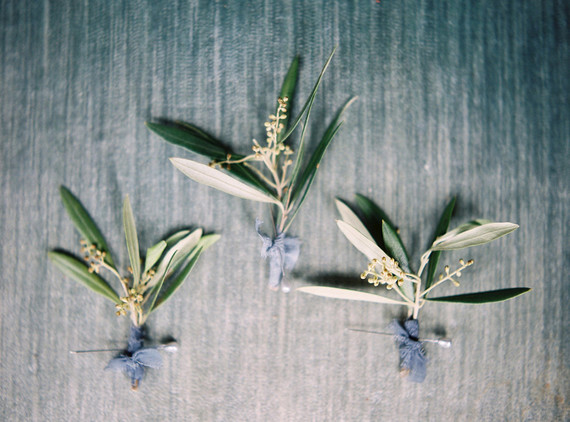 olive branch boutonnieres