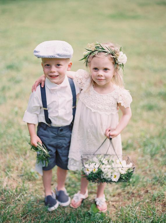 cutest flower girl and ring bearer