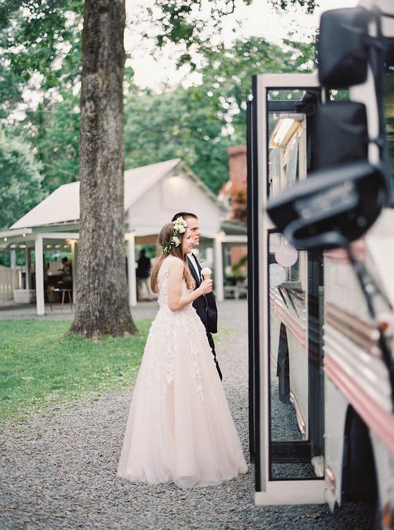 pink ice cream truck for wedding