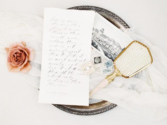 Romantic minimal spring wedding invites