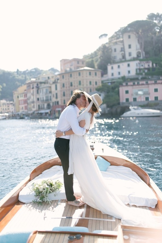 Stylish sexy Portofino elopement