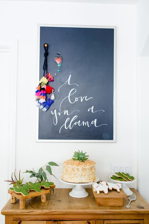 Llama mama baby shower