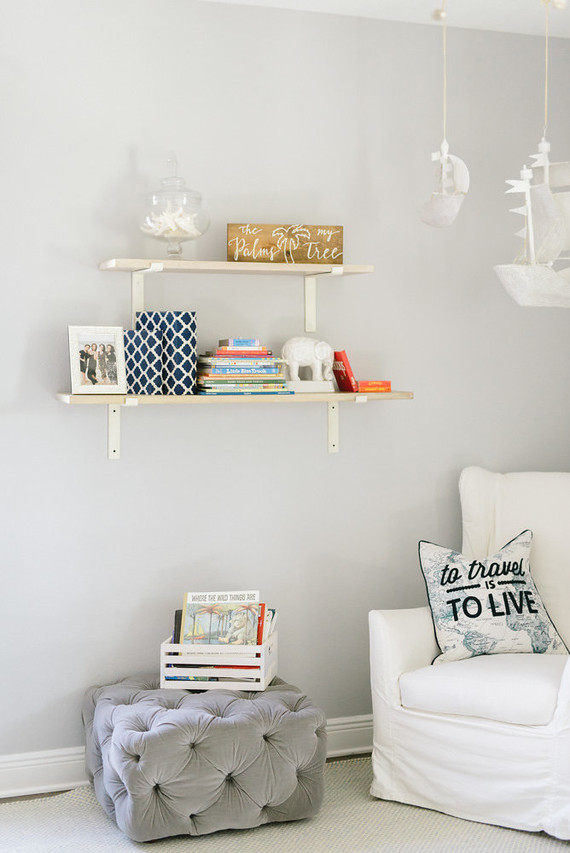 Neutral nautical boy's nursery