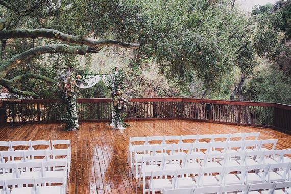 Moody rainy Topanga Canyon wedding at the 1909