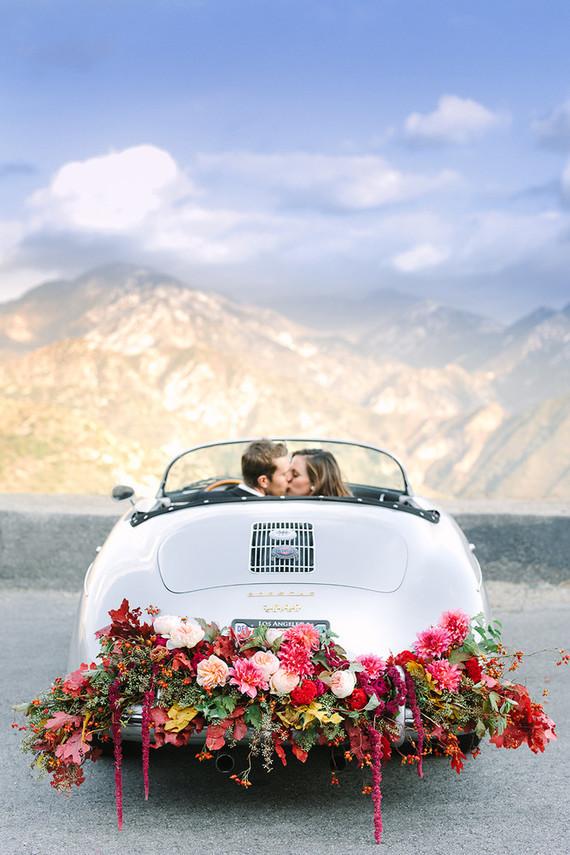 Vintage car engagement shoot