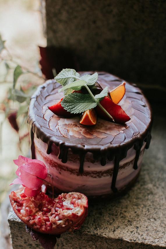Dramatic fall cake