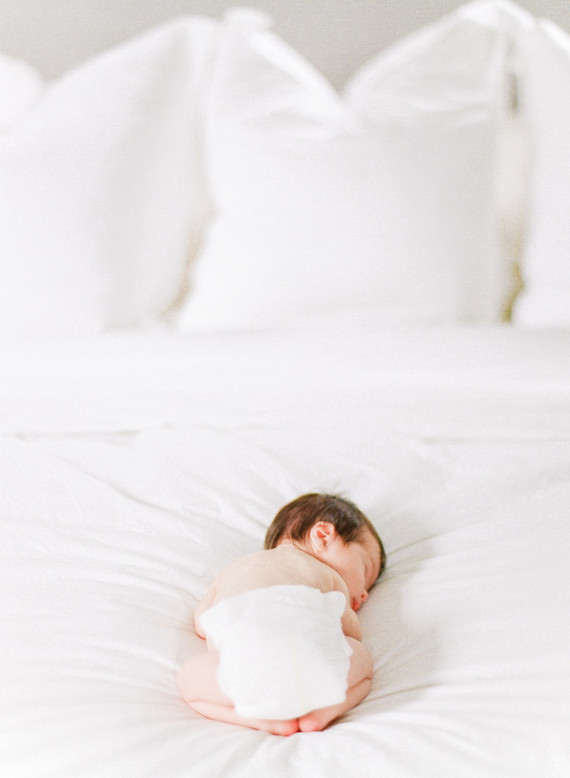 all white newborn photos