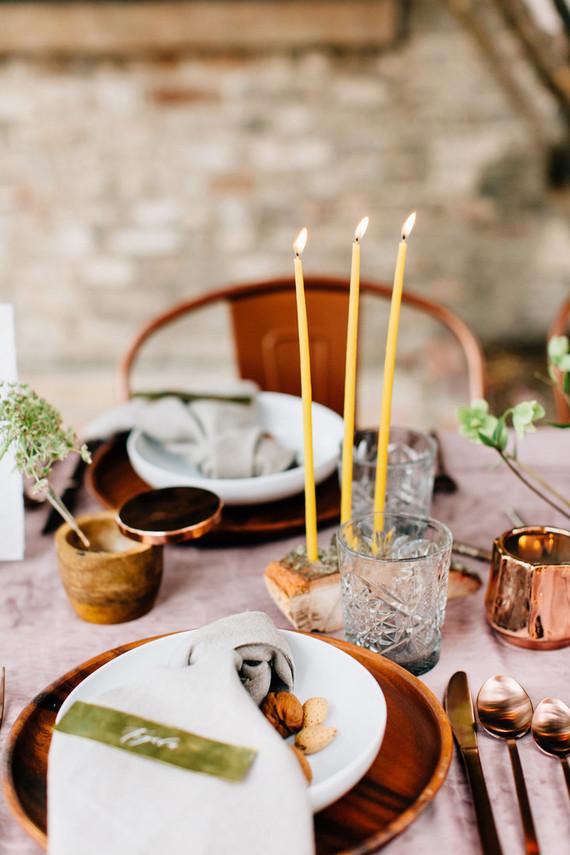 romantic fall tablescape
