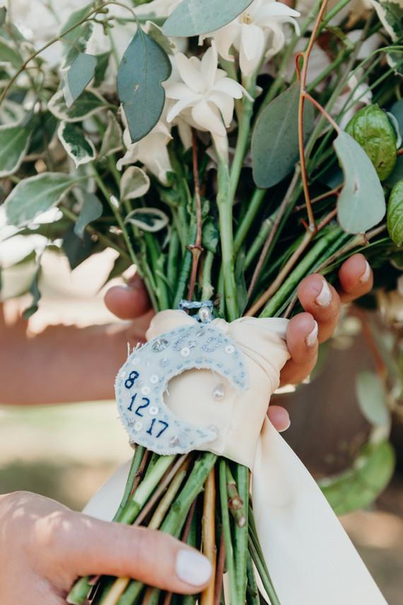 handmade bouquet charm