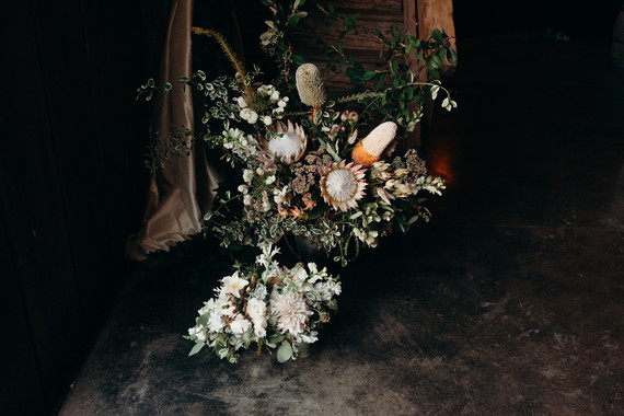 moody protea wedding flowers