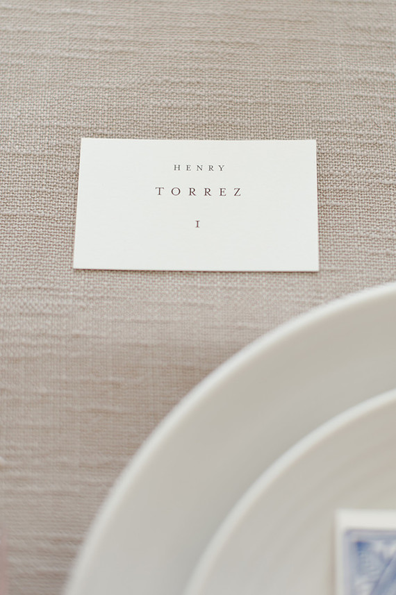 simple chic place cards