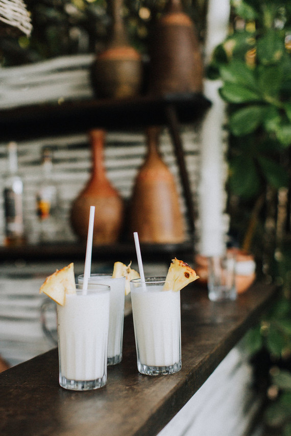 tropical cocktails in Tulum
