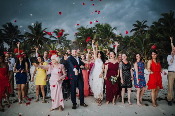 Cosmic Mayan wedding ceremony in Tulum