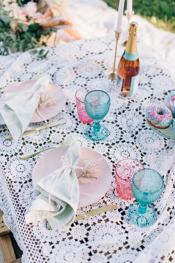 DIY pastel picnic elopement