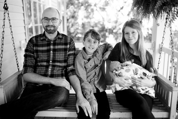Intimate family newborn photos in Grand Rapids