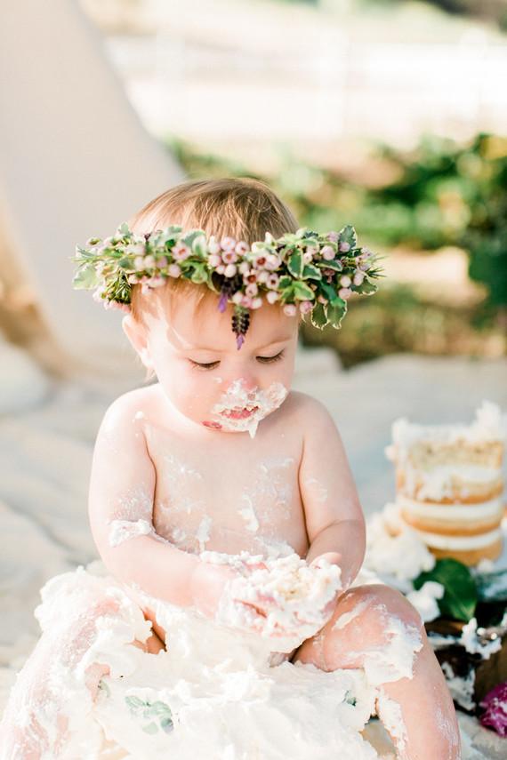 Girly picnic cake smash