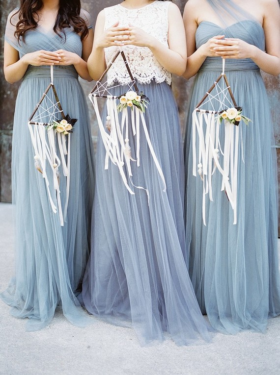 bridesmaids with dream catchers
