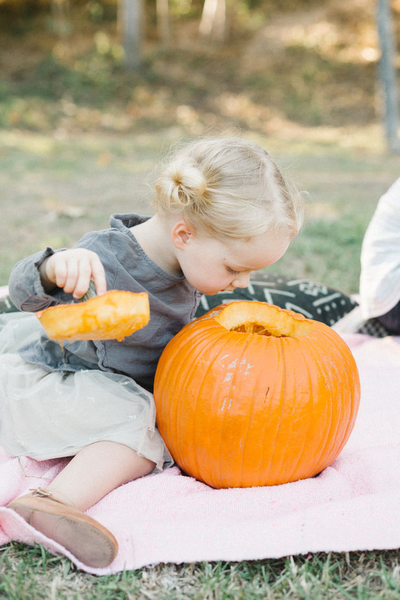 Pumpkin carving playdate