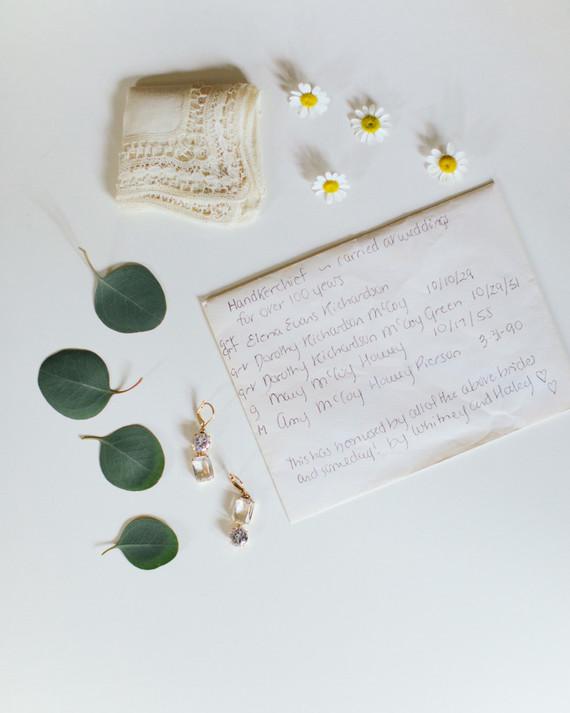 bridal hankerchief