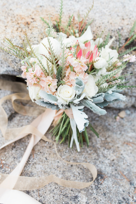 blush boho bridal bouquet