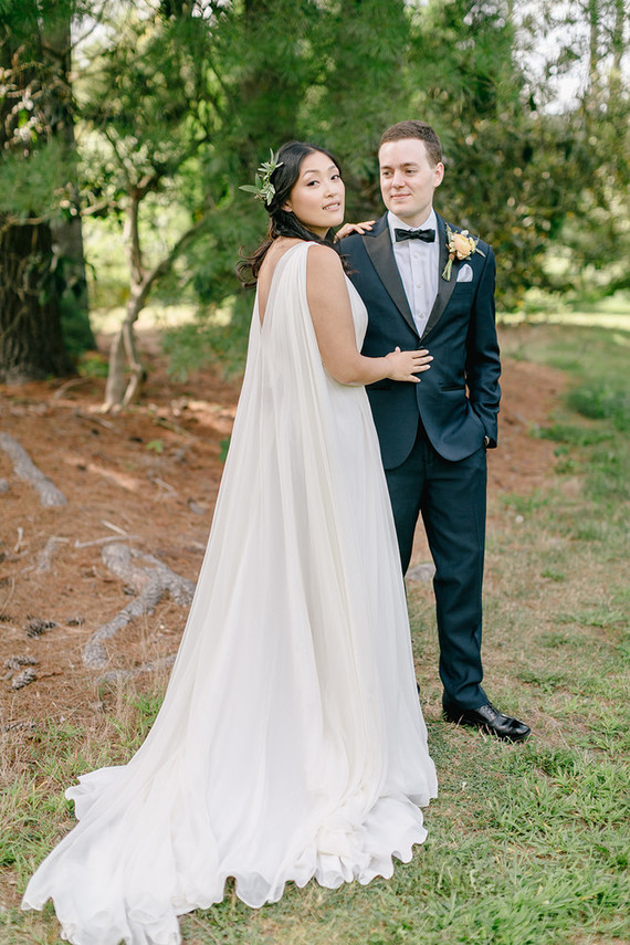 grecian wedding gown by Alexandra Grecco