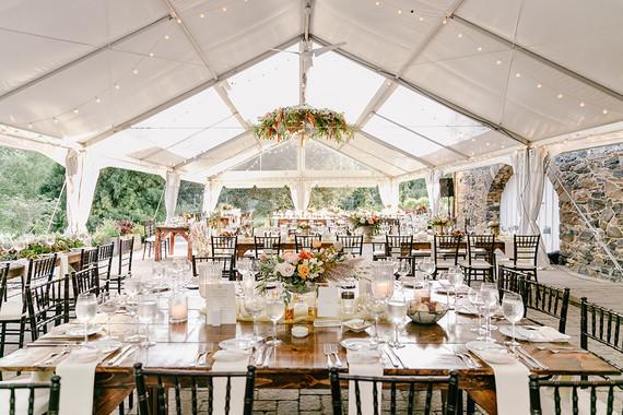 elegant pastel fall wedding at Tyler Arboretum in Philadelphia