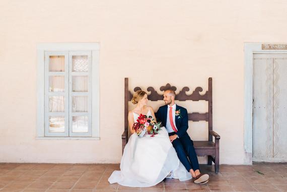 Colorful wedding at the Santa Barbara Historical Museum