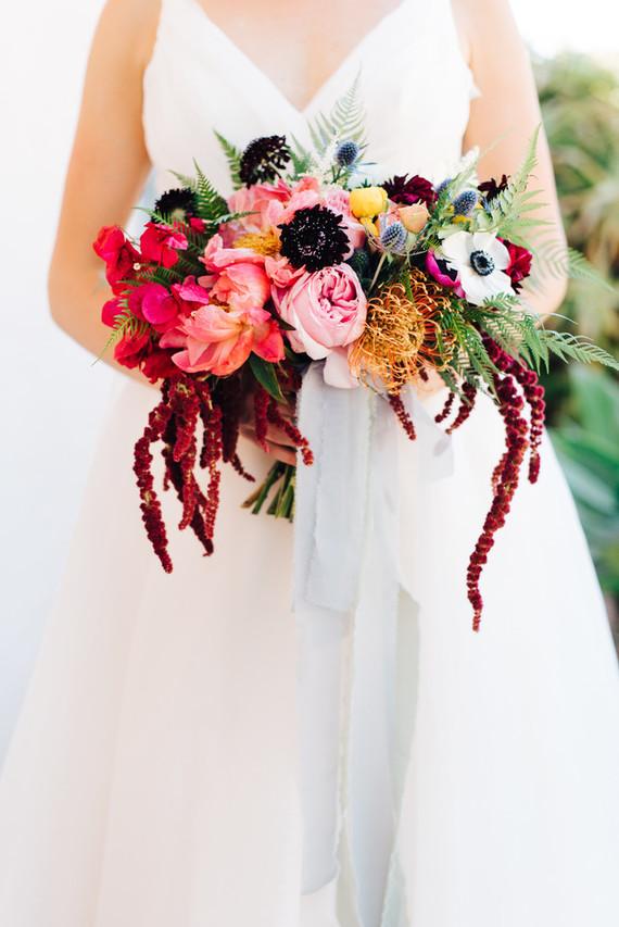 Colorful summer bridal bouquet