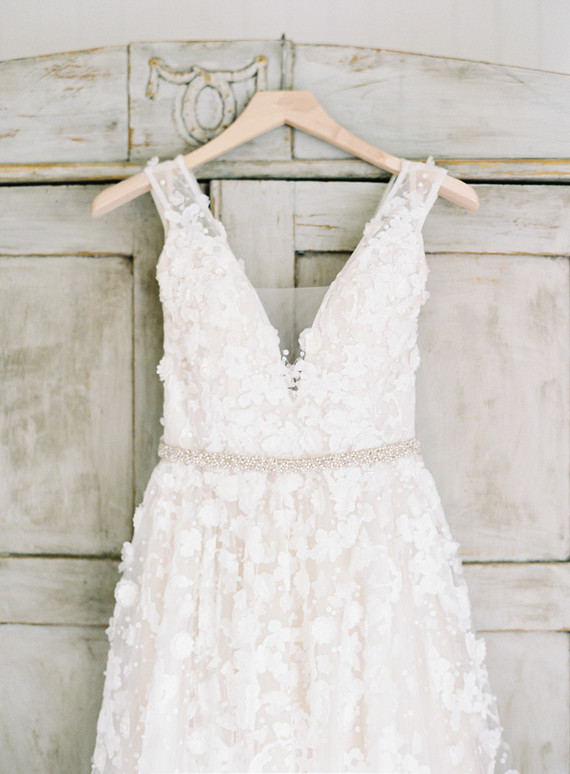 BHLDN applique floral wedding gown