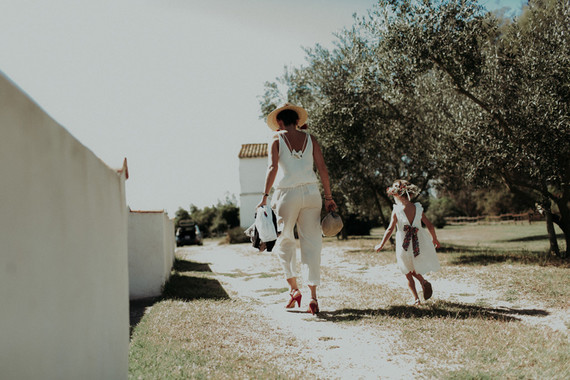 Authenic festive farm wedding in Provence