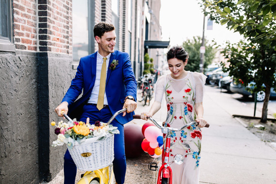 Bright whimsical engagement photos in Philadelphia