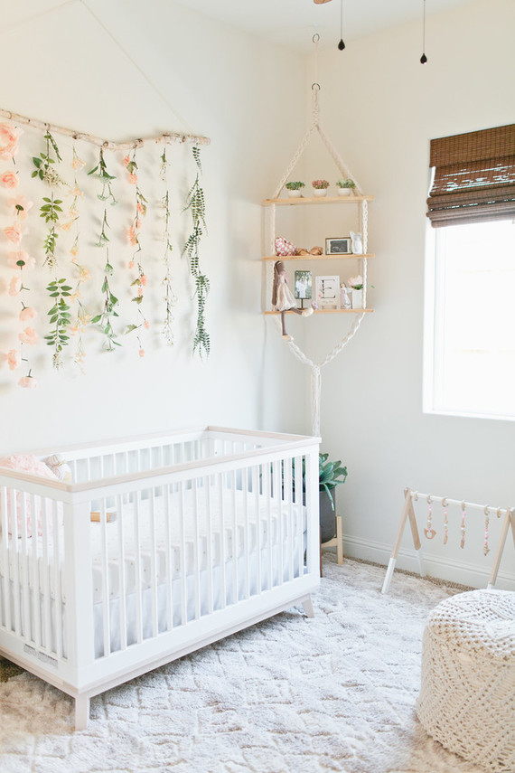 Floral Boho Girls Nursery Nursery Decor Ideas 100