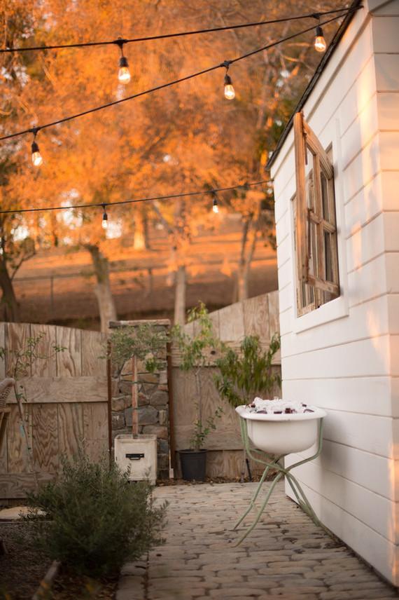 Backyard Thanksgiving feast from Found Rentals