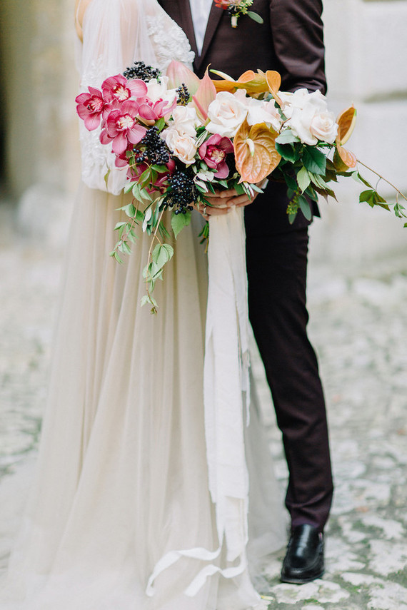 unique fall wedding bouquet