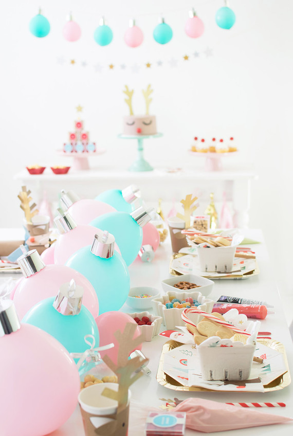 Bright festive cookie decorating party on 100 Layer Cakelet