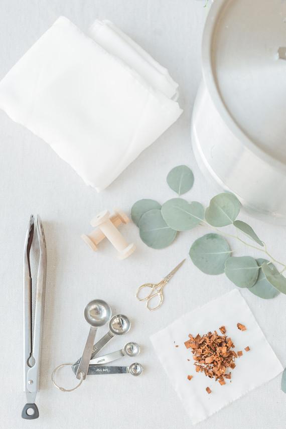 DIY dyed silk ribbon tutorial on 100 Layer Cake