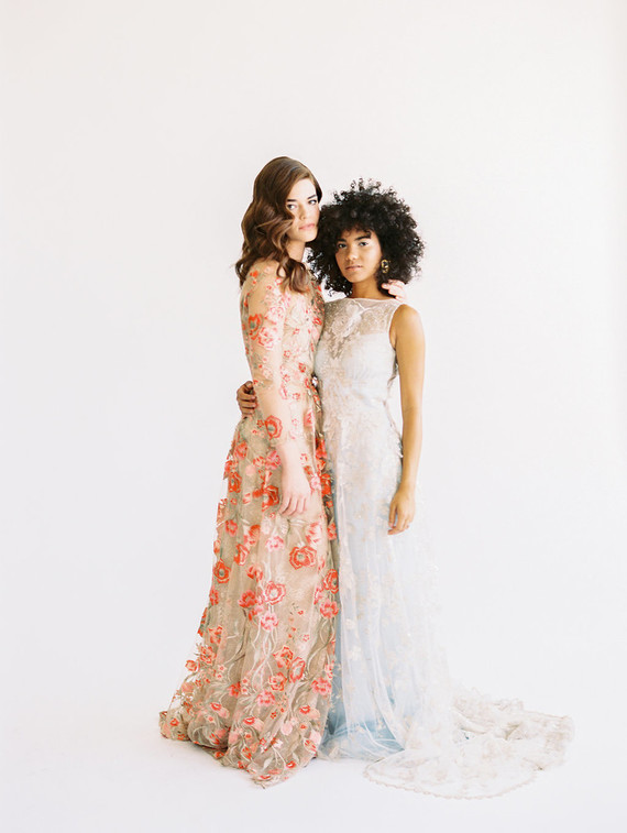 Floral fashion-forward wedding inspiration