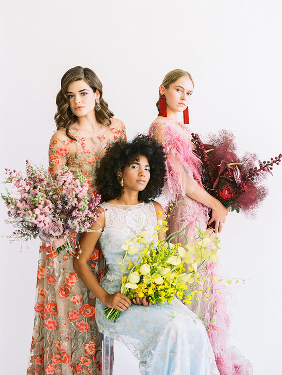 Floral fashion-forward wedding editorial