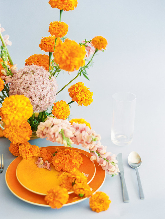 marigold wedding inspiration