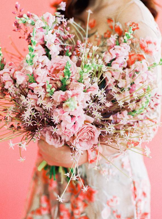 orange floral wedding inspiration