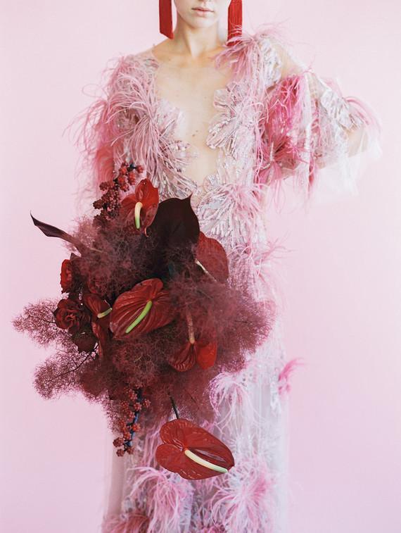 modern color blocked wedding inspiration