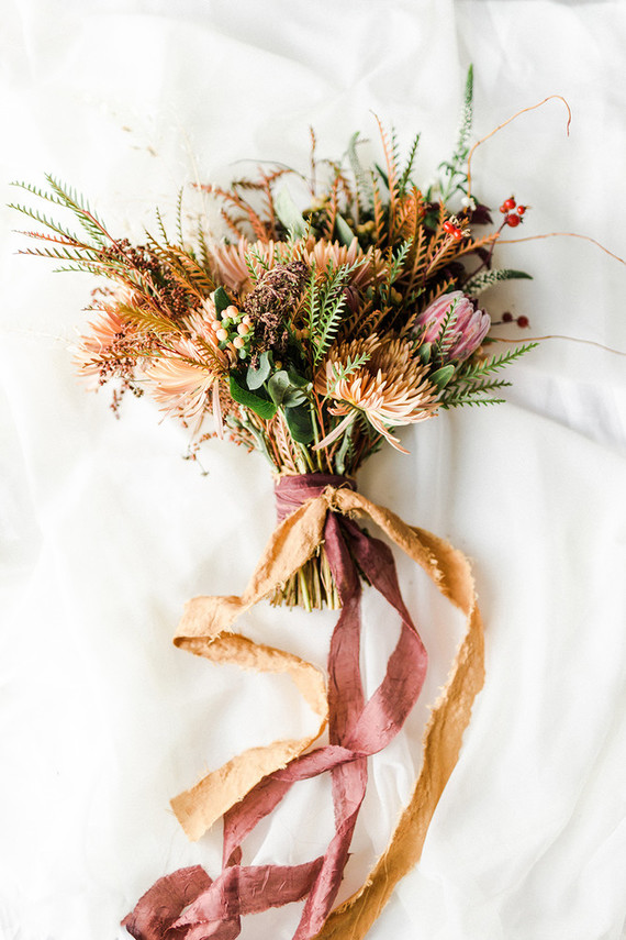 organic fall bridal bouquet