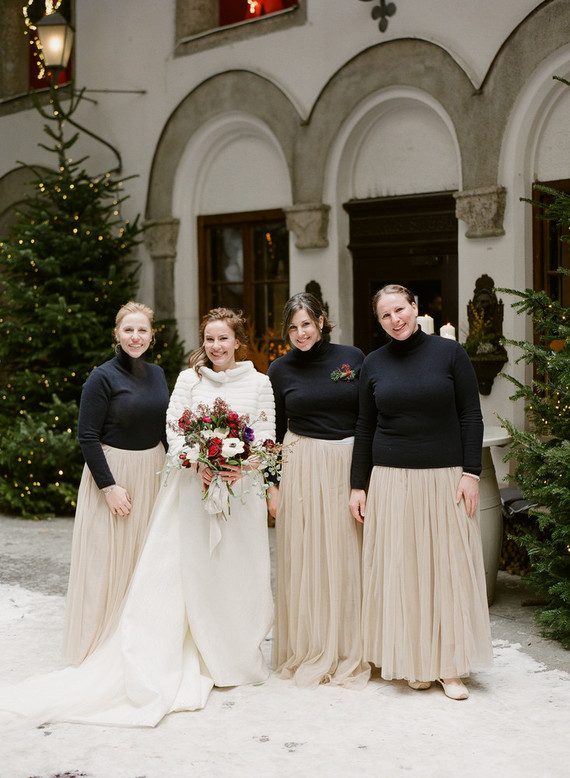 Elegant snowy Christmas wedding in Salzburg Austria on 100 Layer Cake