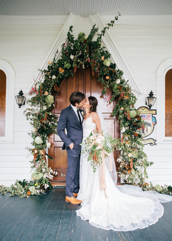 Elegant Southern Fall Wedding Alabama Wedding 100 Layer Cake