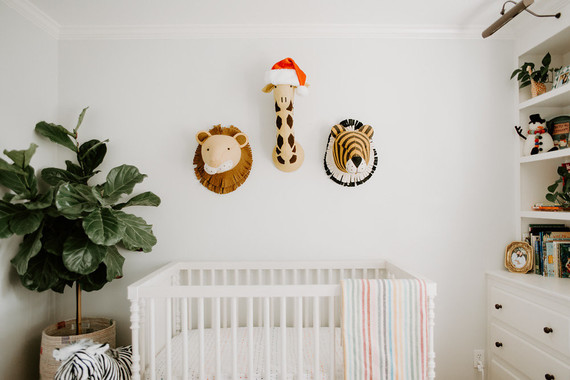Festive Christmas nursery decor