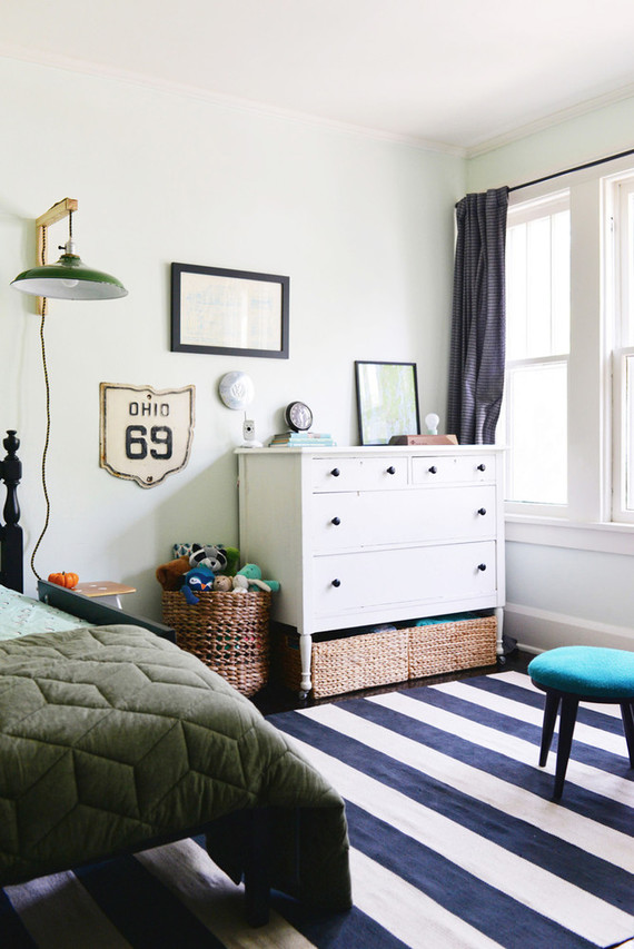 vintage inspired little boy's room
