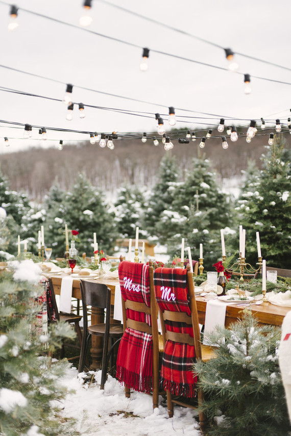 Christmas Tree Farm Wedding Winter Wedding 100 Layer Cake