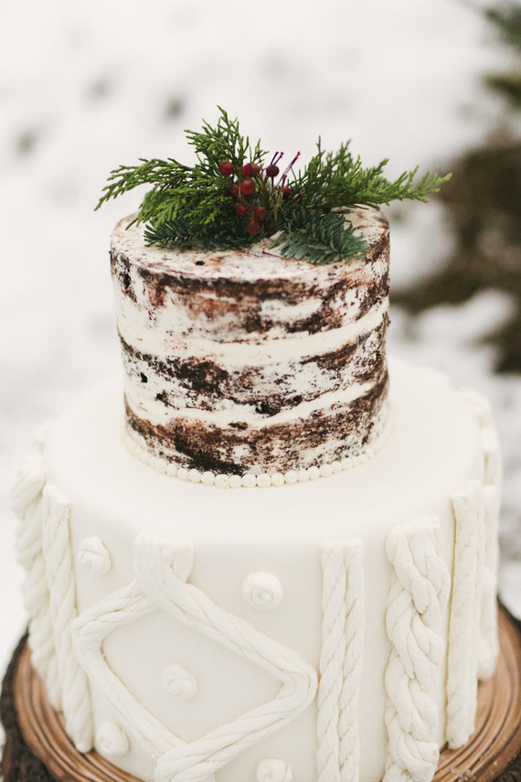 farm wedding cakes ideas snowy tree farm wedding ideas 100 layer cake 14208