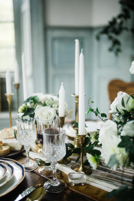 Elegant winter garden wedding ideas in Virginia